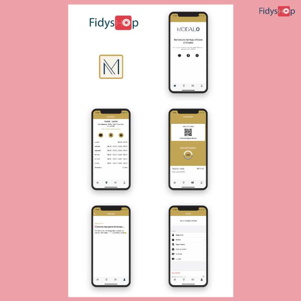 fidelity app per negozio di abbigliamento