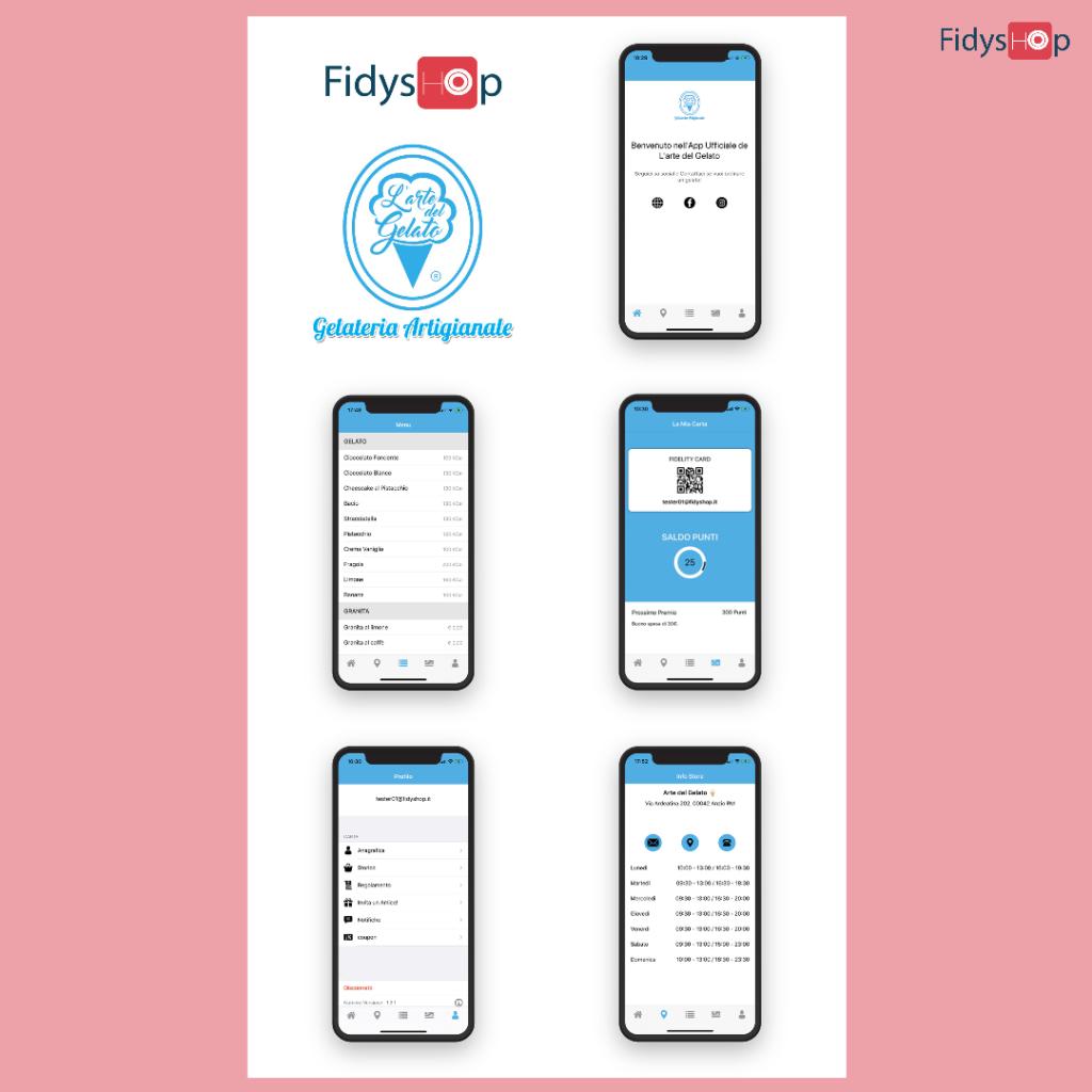 fidelity app per gelateria artigianale